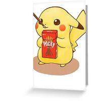 Pikachu Pocky Greeting Card