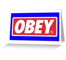 Obey Logo Greeting Card