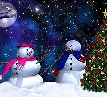 mr and mrs frosty by Cheryl Dunning