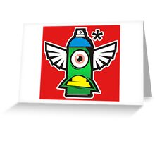 Cartoon Spray Greeting Card