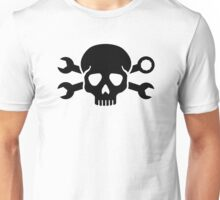 Skull crossed screw wrench Unisex T-Shirt