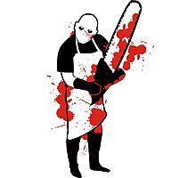 Chainsaw Butcher Photographic Print