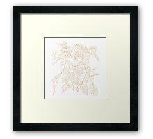 The Plant (white gold) Framed Print