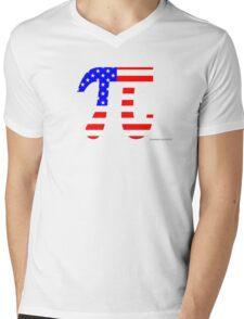 American Pi Mens V-Neck T-Shirt