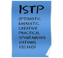 ISTP (Black letters) Poster