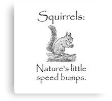 Squirrels Speed Bumps Canvas Print