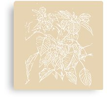 The Plant (gold) Canvas Print