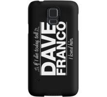 "Dave Franco - ""If I Die"" Series (White) Samsung Galaxy Case/Skin"