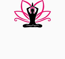 Meditation lotus Womens Fitted T-Shirt