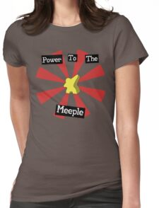 Power To The Meeple Womens Fitted T-Shirt