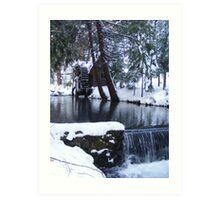 Little Bear Creek With a  Waterfall Art Print
