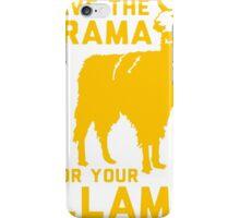 Drama Lama [Yellow] iPhone Case/Skin