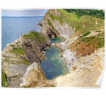Stair Hole - Lulworth Dorset UK - HDR  Poster