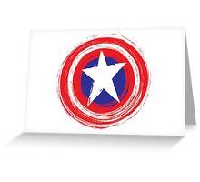 Captain America Shield Greeting Card