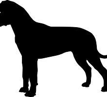 Bullmastiff Dog Silhouette by SandpiperDesign