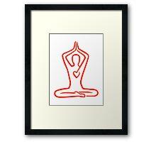 Meditation heart Framed Print