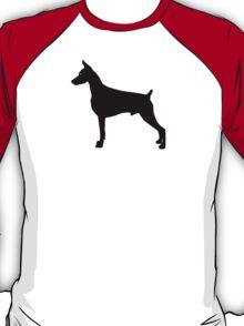 Doberman Pinscher Dog Silhouette T-Shirt