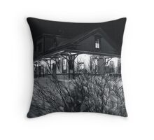 Rural Station on a Snowy Winter Eve [ Featured*]  Throw Pillow
