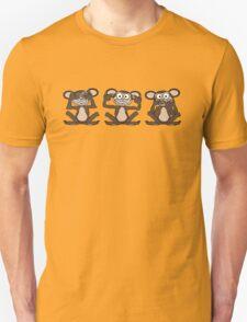 See No Evil, Hear No Evil, Speak No Evil Tee 1 Unisex T-Shirt