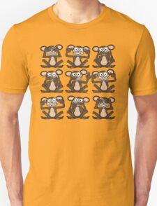 See No Evil, Hear No Evil, Speak No Evil Group Tee 2 Unisex T-Shirt