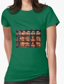 Illuminated Staircase Womens Fitted T-Shirt