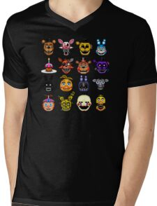 Five Nights at Freddy's - Pixel art - Multiple characters Mens V-Neck T-Shirt