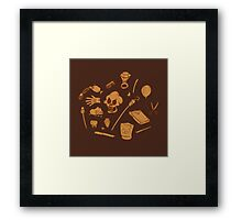 The Curse of Monkey Island Inventory (brown) Framed Print