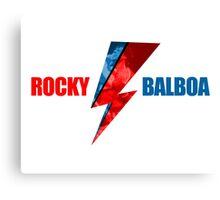 Rocky Balboa David Bowie Mashup Canvas Print