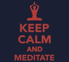 Keep calm and meditate Kids Tee