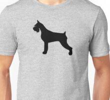 Schnauzer Dog Silhouette Unisex T-Shirt