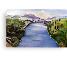 The Jordan River (Artist Interpretation for Baptismal Mural) Canvas Print