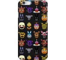 Five Nights at Freddy's - Pixel art - Multiple characters iPhone Case/Skin