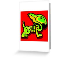 Bullies Letter Character Green and Yellow Greeting Card