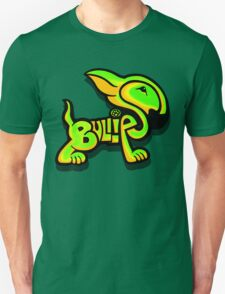 Bullies Letter Character Green and Yellow Unisex T-Shirt