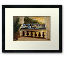 Italian View by Diane Romanello Framed Print