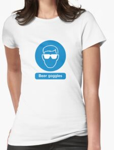 BEER GOGGLES Womens Fitted T-Shirt