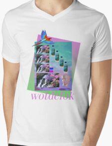 Tokyo Chopshop - wotdefok Mens V-Neck T-Shirt