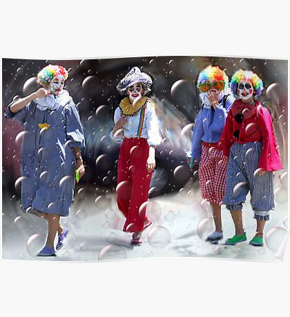 Bubbly Clowns Poster