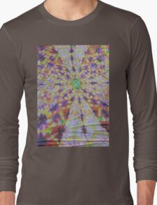 Vivid kaleidoscopic mandala Long Sleeve T-Shirt