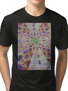 Vivid kaleidoscopic mandala Tri-blend T-Shirt