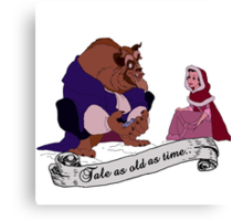 """""""Tale as old as time..."""" - Beauty and the Beast Canvas Print"""