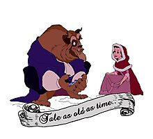 """""""Tale as old as time..."""" - Beauty and the Beast Photographic Print"""