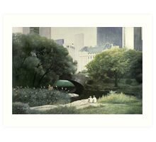 Summer Days(Central Park-New York City) Art Print