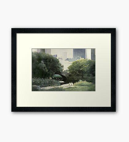 Summer Days(Central Park-New York City) Framed Print