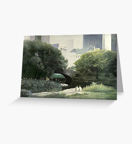 Summer Days(Central Park-New York City) Greeting Card