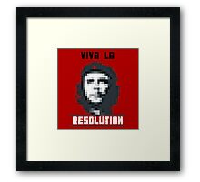 VIVA LA RESOLUTION - white Framed Print