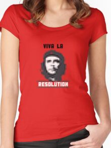 VIVA LA RESOLUTION - white Women's Fitted Scoop T-Shirt