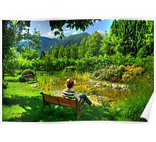 Admiring the landscape Poster