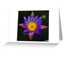 Lilly Star embossed bright Greeting Card