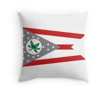 State Flag of Ohio Throw Pillow